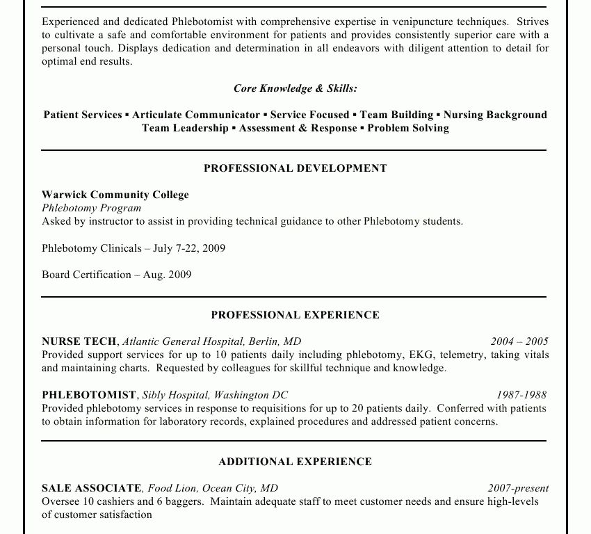 Homey Ideas Phlebotomy Cover Letter 9 Professional Resume Sample ...