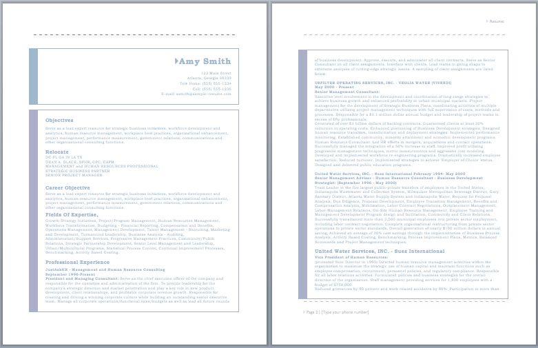 HR Consultant Resume – Sample Resumes