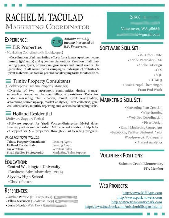 Modern Resume Example. Free Minimal Resume/Cv Template Free Modern ...