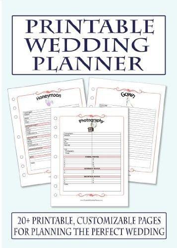 Free Printable Wedding Planner Templates | shareitdownloadpc