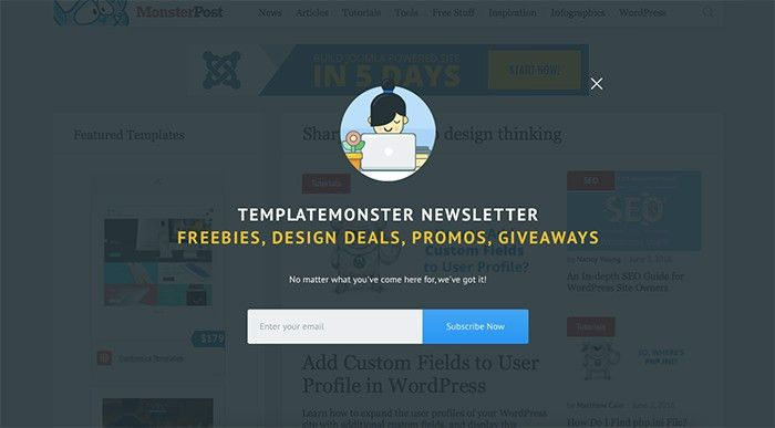Newsletter Signup Forms that Rock – Inspirations, Templates ...