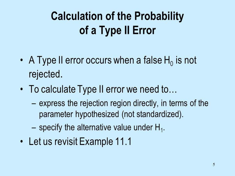 Lecture 3 Miscellaneous details about hypothesis testing Type II ...