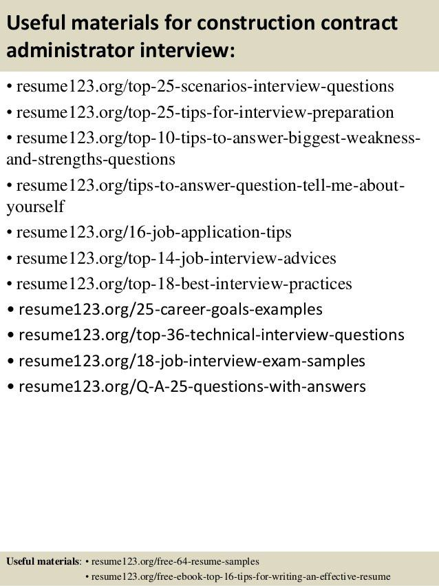 Top 8 construction contract administrator resume samples