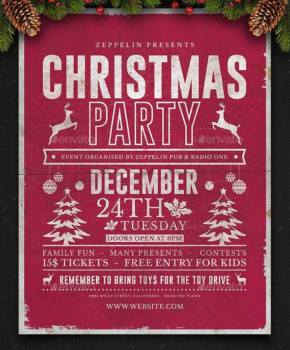 Festive Collection Of Christmas Flyer Templates | print | iDesignow