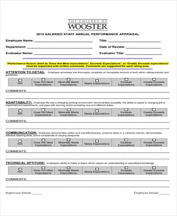 40+ Simple Appraisal Forms