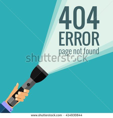 Template 404 Error Page Not Found Stock Vector 422825767 ...