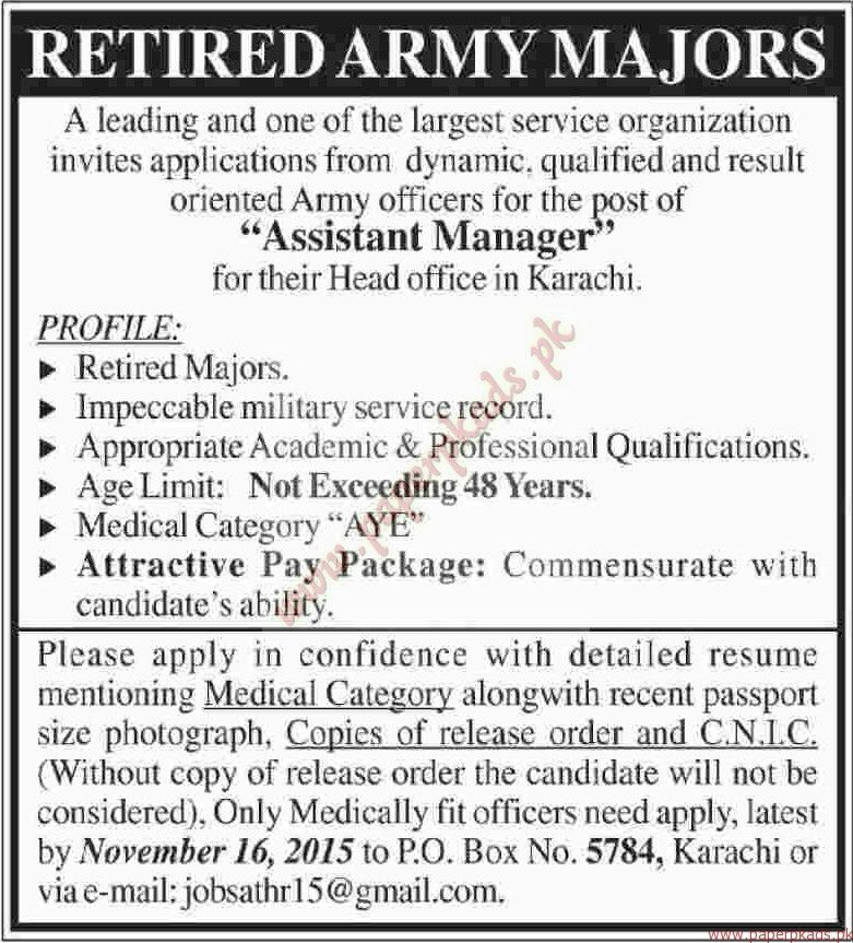 Assistant Managers Jobs - Dawn Jobs ads 08 November 2015 - PaperPk