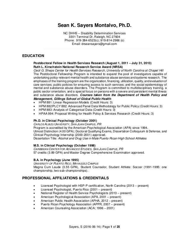 Psychology Internship Curriculum Vitae - Contegri.com