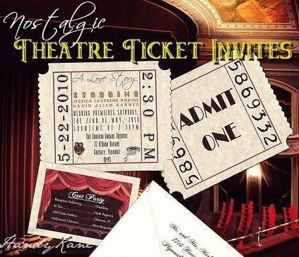 Movie Ticket Wedding Invitations & Reception Cards – Handykane.com