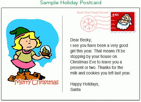Mailroom - Santa Letter, Christmas Cards, or Birthday Card from ...