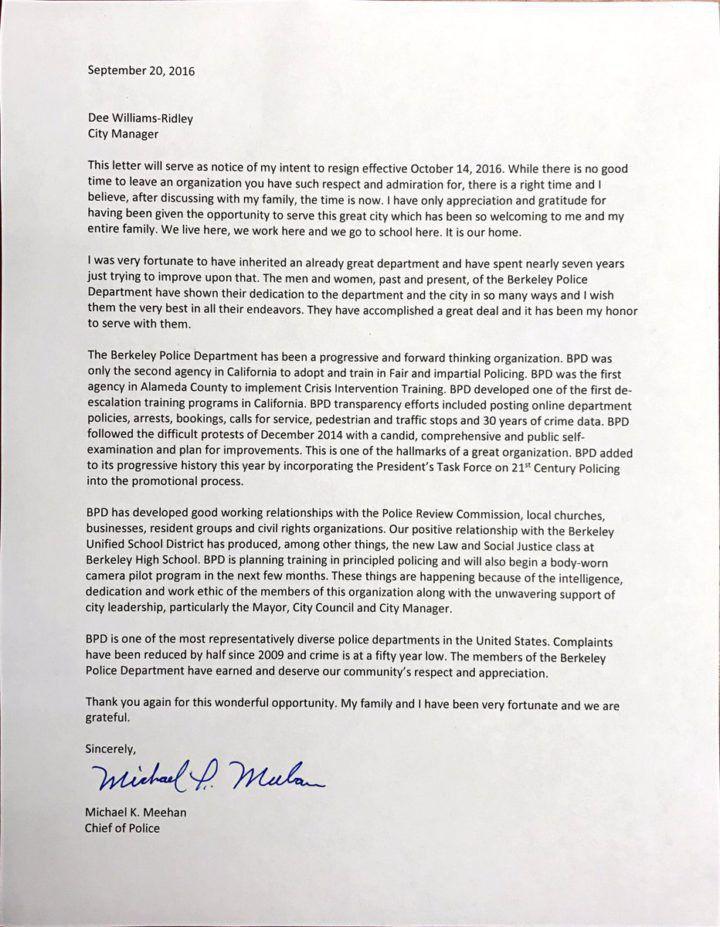 Berkeley police chief resigns; no reason provided — Berkeleyside