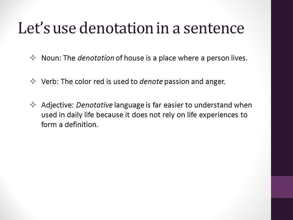 Connotation & Denotation (Sample WOTD Project) Ms. Brunskole APLAC ...
