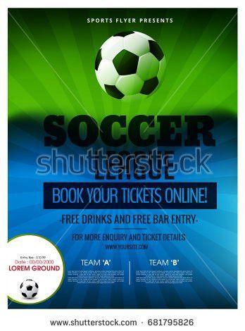 Vector Sports Brochure Flyer Template Design Stock Vector ...
