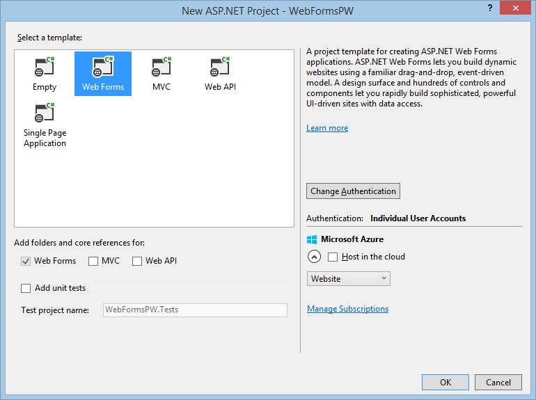 Create a secure ASP.NET Web Forms app with user registration ...