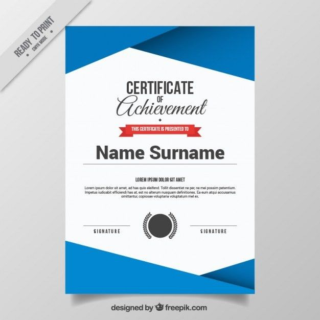 Abstract certificate template Free Vector | Certificates ...