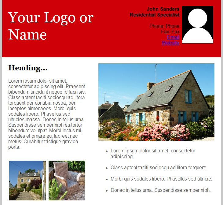 Email Templates for Real Estate Newsletters and Marketing