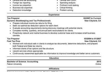 Tax Associate Resume - Reentrycorps