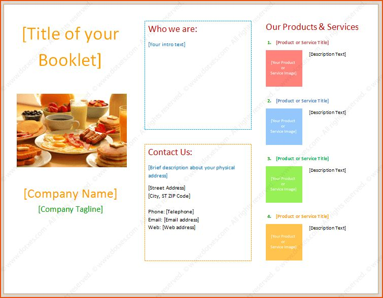 booklet word template - bookletemplate.org