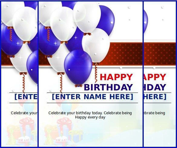10+ MS Word Format Birthday Templates Free Download | Free ...