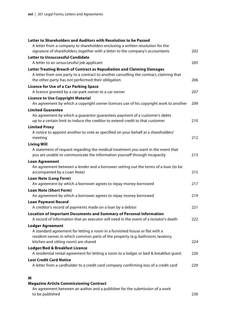 301 Legal Forms, Letters and Agreements sample chapter