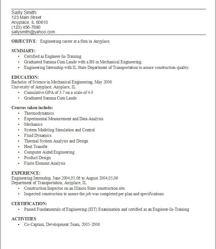 College Student Resume Example. Great Resume Examples For College ...