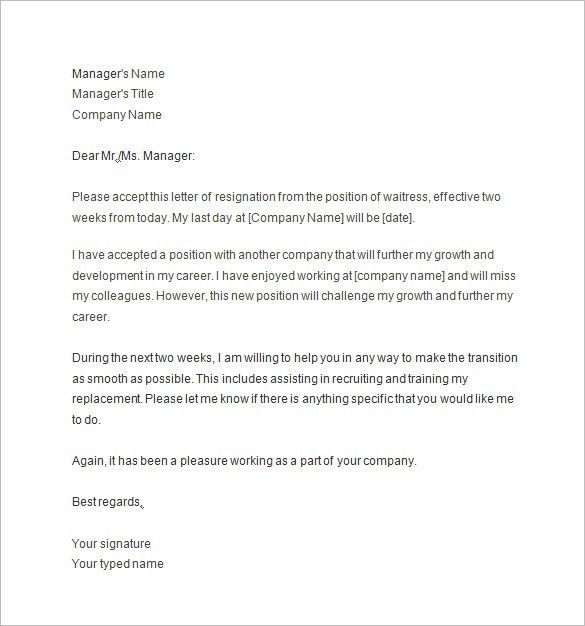 2 Weeks Notice Template. Free Editable Two Weeks Notice Template ...