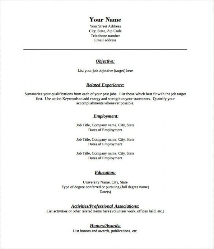 fill in the blank resume free