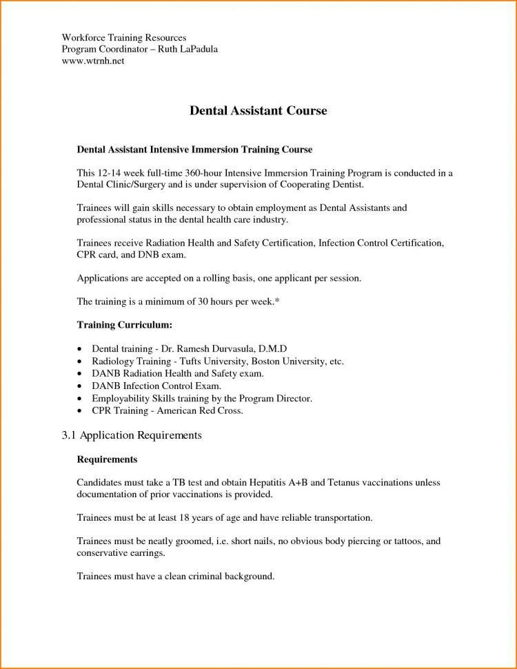 Cover Letter For Dental Assistant Traineeship No Experience Cover ...