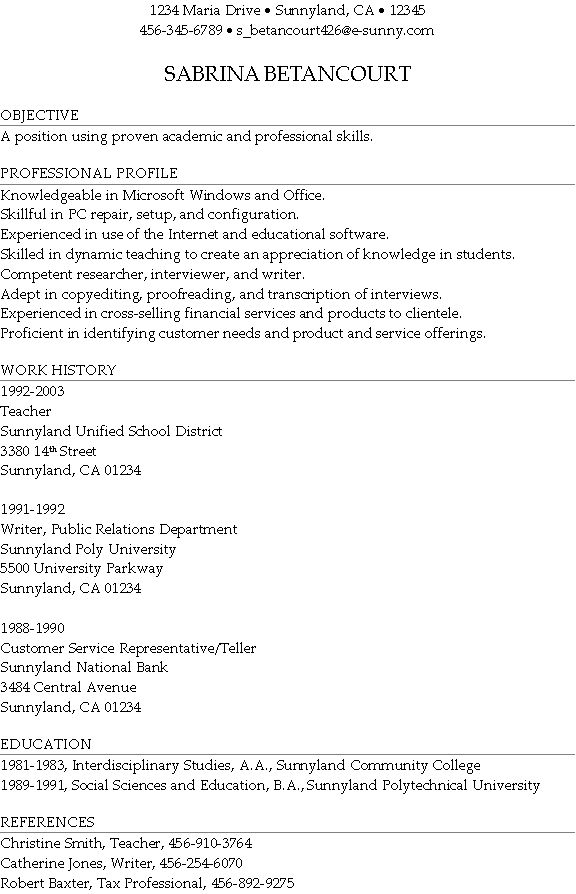 Cool Profile On A Resume 40 With Additional Resume Format With ...