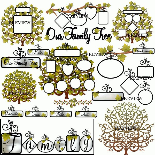 Family Tree Cliparts | Free Download Clip Art | Free Clip Art | on ...
