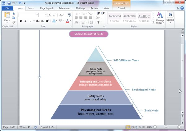 Pyramid Diagram Templates for Word