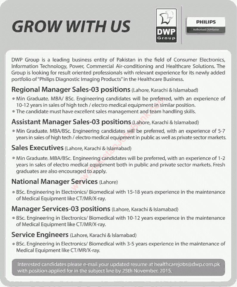 DWP Group Jobs 2015 November Sales Managers / Executives & Service ...