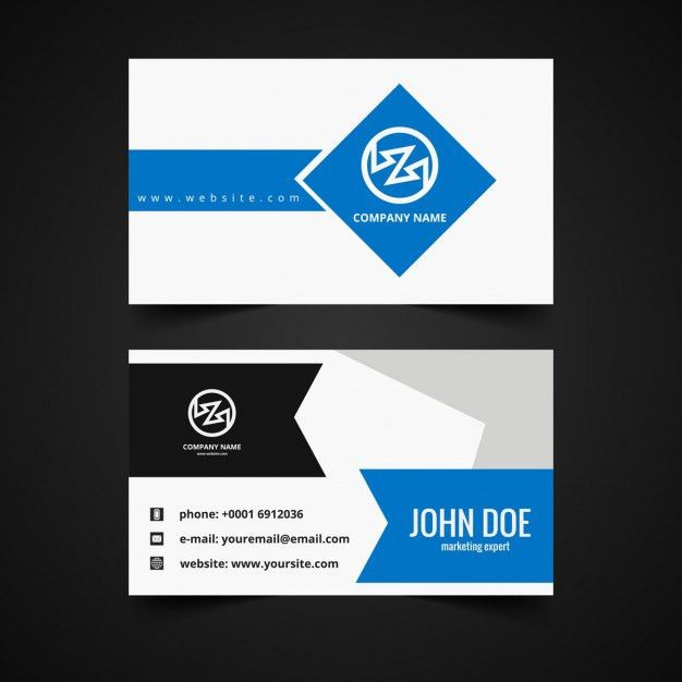 Modern Business card template Vector | Free Download