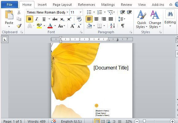 Student Report Template For Word