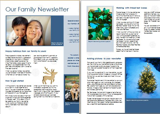 MS Word Christmas Newsletter Template | Document Templates