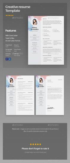 Yellow and Pink Resmu Template PSD | Creative resume templates ...