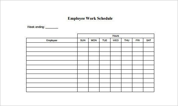 Employee Schedule Template - 5 Free Word, Excel, PDF Documents ...