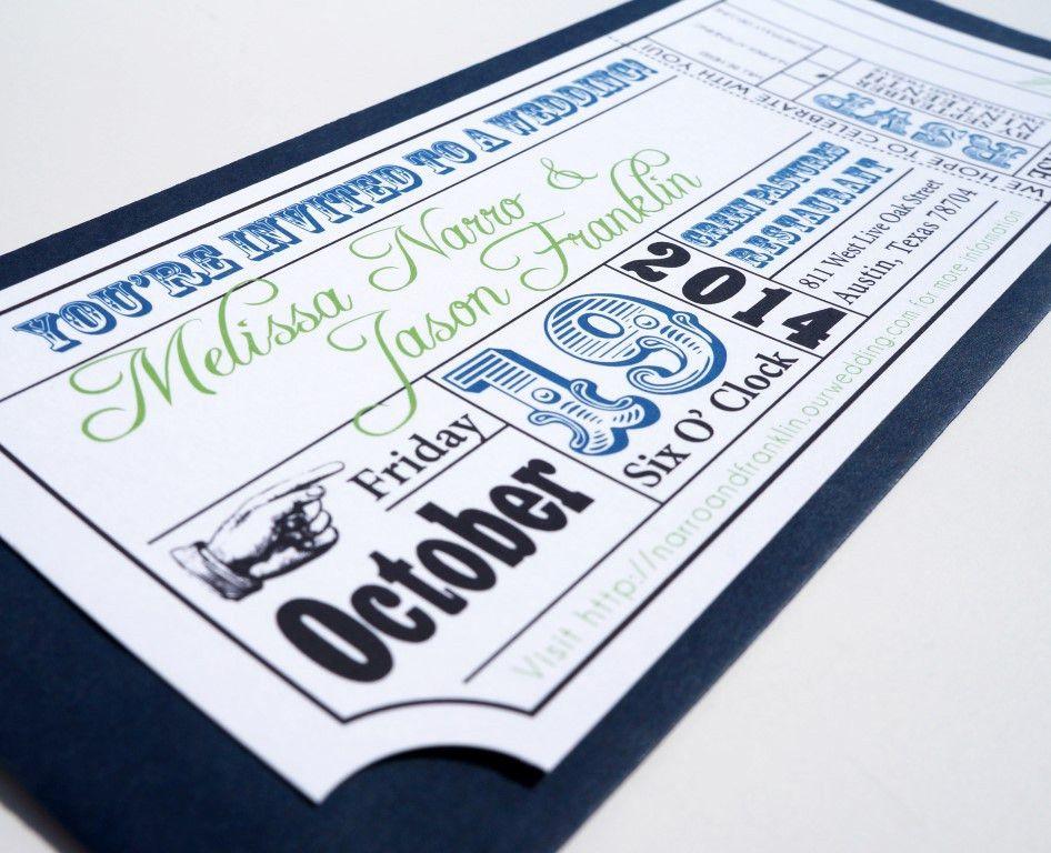 Movie Ticket Wedding Invitations - plumegiant.Com