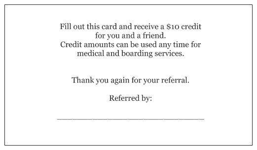 Referral Rewards Program - North Alabama Animal Hospital