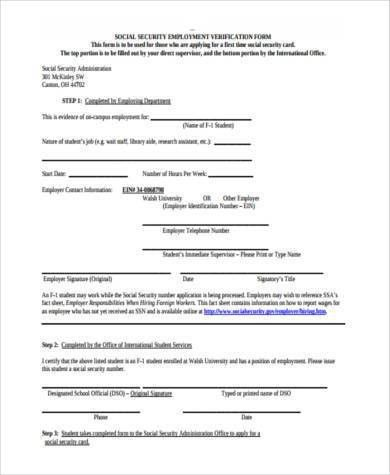 Free Social Security Verification Forms - 8+ Free Documents in ...
