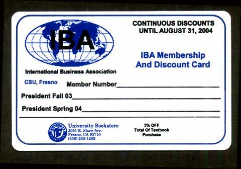 This is a sample of an actual membership fundraising card.