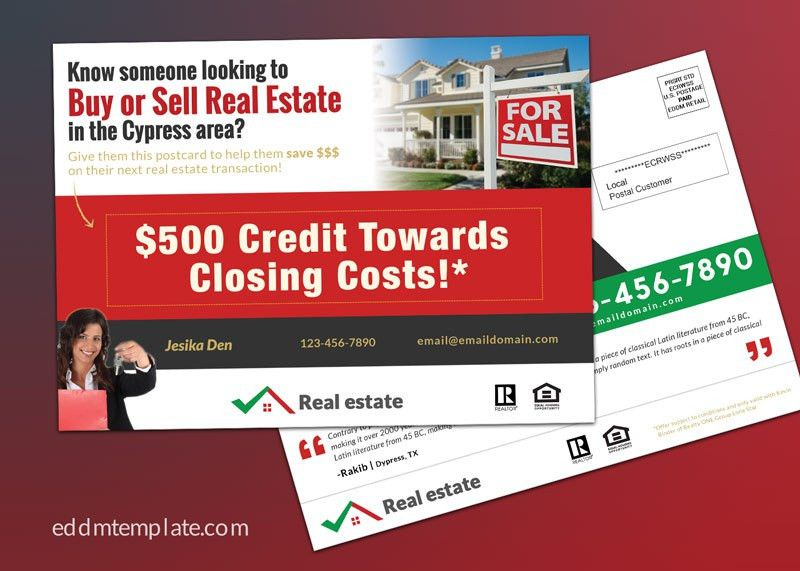 Every Door Direct Mail EDDM Template Download for Realtor