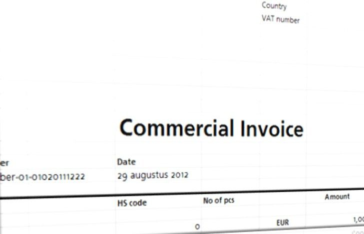 Commercial Invoice Template | Templates at allbusinesstemplates.com
