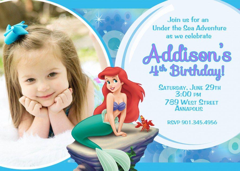 Mermaid Birthday Invitations Ideas – Bagvania FREE Printable ...