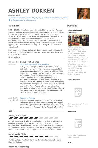 Teller Resume samples - VisualCV resume samples database