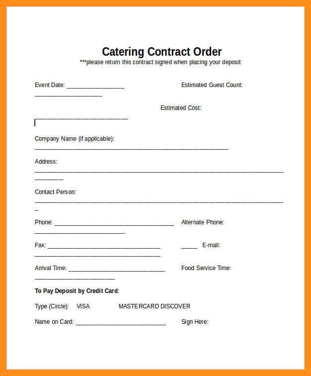 Contract Template – agenda example