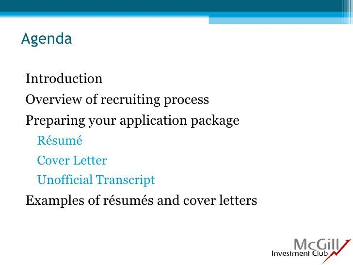 Cover letter guide mcgill