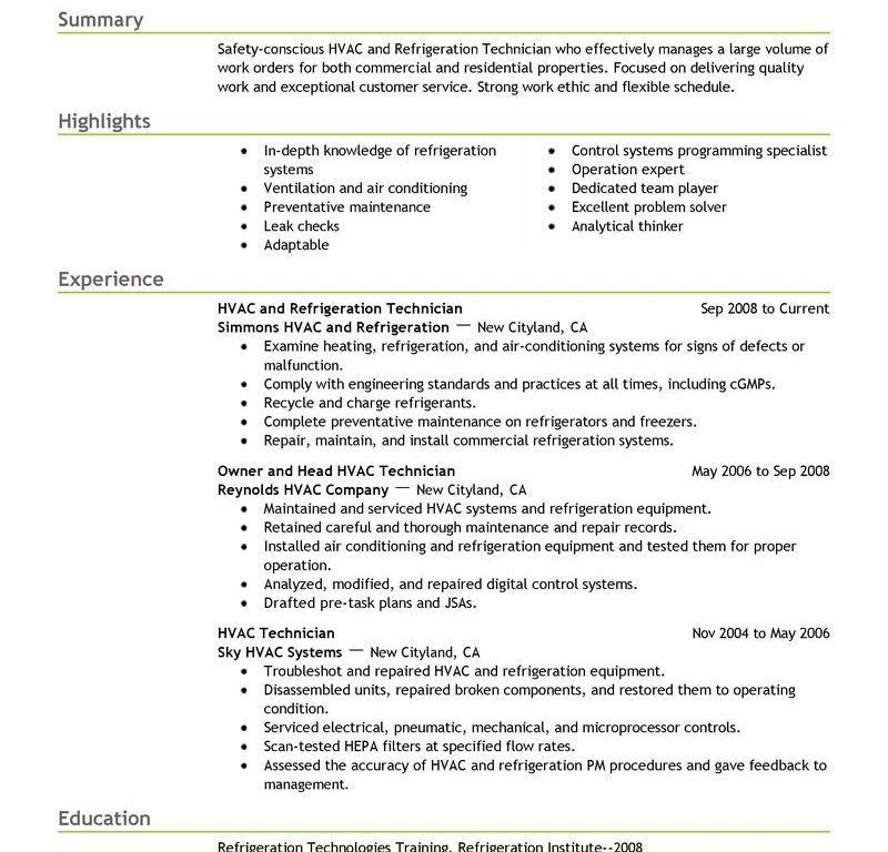 Download Hvac Engineer Sample Resume | haadyaooverbayresort.com