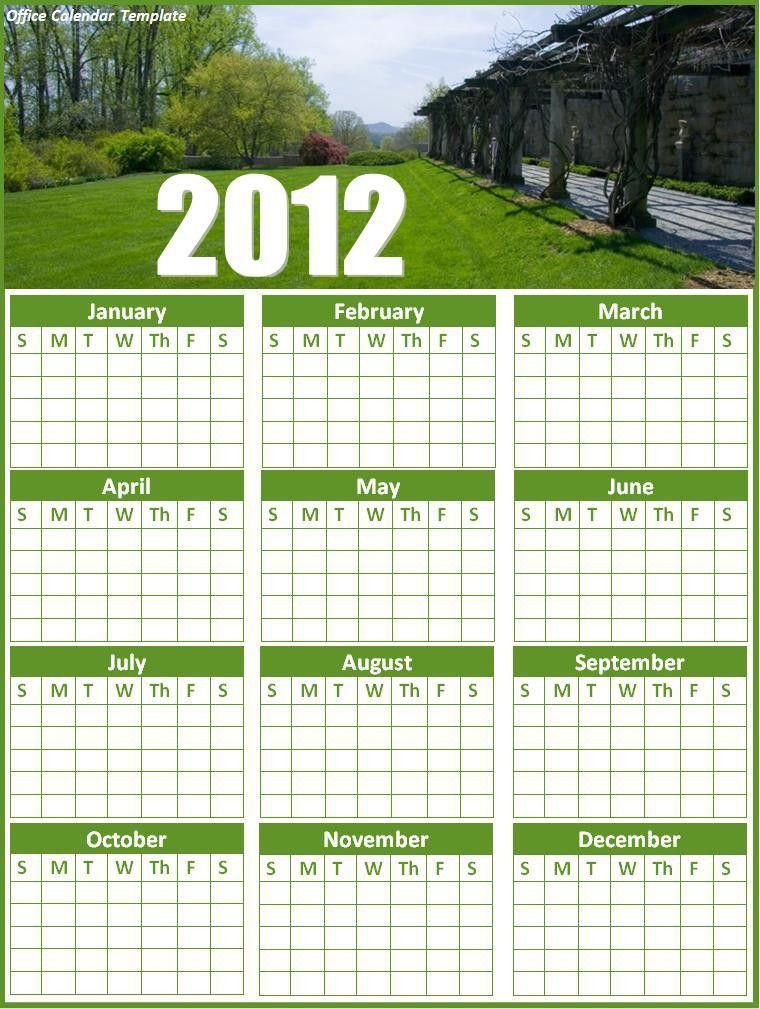 2015 Office Calendar Template - Contegri.com