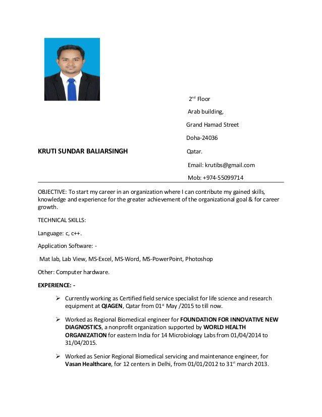 Download Biomedical Service Engineer Sample Resume ...
